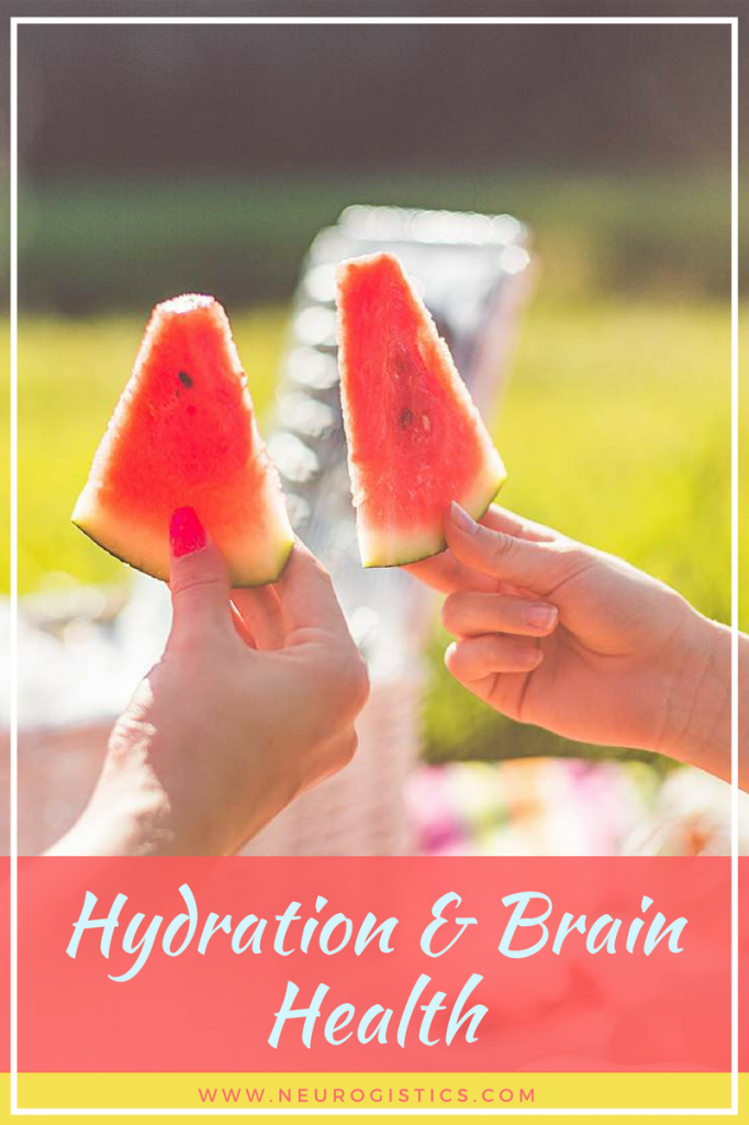 Hydration is important for brain health. Dehydration has damaging effects on your body. Tips on adding water and hydration in to your diet.